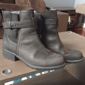 Black Clark leather boot size 10